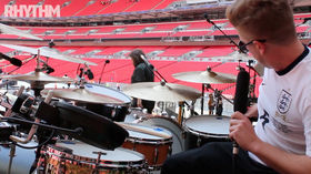 Video: Robbie Williams drummer Karl Brazil shows Rhythm around his stadium tour drum kit