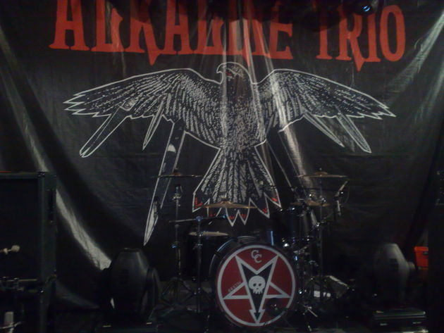 The Alkaline Trio stage set-up