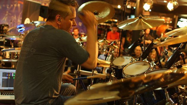Gavin Harrison at Wembley Drum Centre