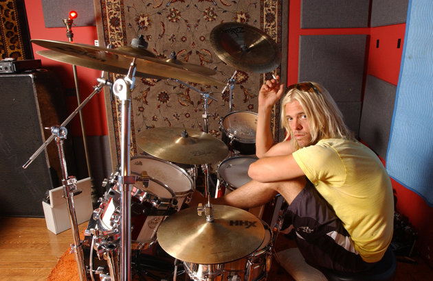 Taylor hawkins behind the kit