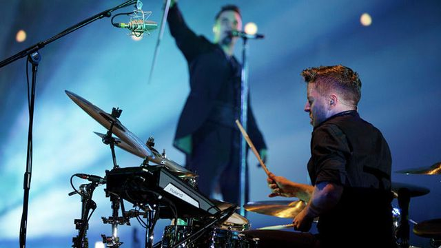 Live with Robbie Williams at the 02