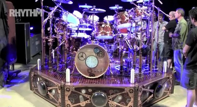 Neil peart kit screen grab