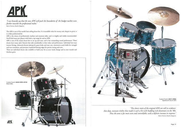 Gear from the Premier Drums Vaults