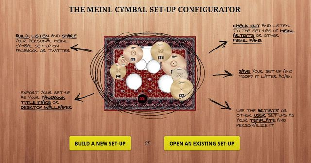 New online tool from cymbal master
