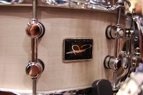 NAMM 2013: Close up with Nicko McBrain and Premier's One Series snares
