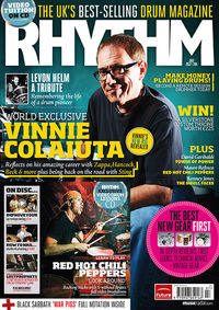 Get a free pair of Vater sticks with the latest Rhythm!