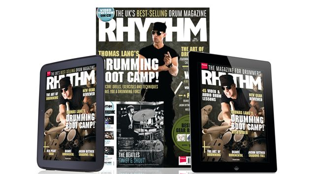 Subscribe to Rhythm and get a FREE copy of The Roots of Rock Drumming Book/DVD!