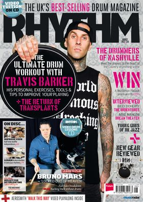 August issue of Rhythm featuring Travis Barker out now