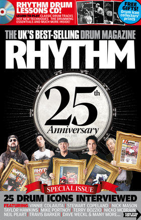 Rhythm 25th anniversary cover