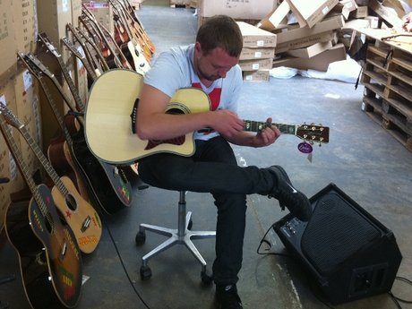 Jail guitar doors graduate jonny neesom tests his new tanglewood