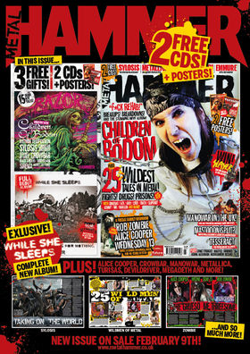 Alexi Laiho on cover of new Metal Hammer