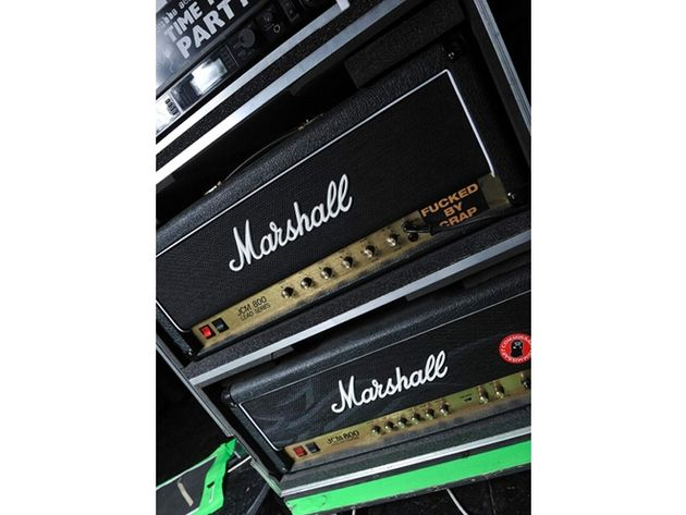 Bill Kelliher's Marshall JCM800 and Kerry King amps