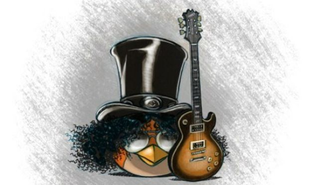 Slash. Guitars. Angry Birds.