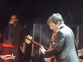 Video: Michael J. Fox plays 'Johnny B. Goode' live