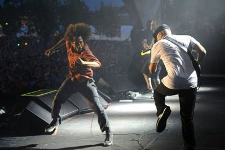 Zack de la rocha and tom morello, rage against the machine