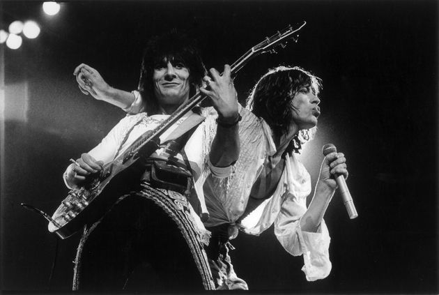 On stage with Mick Jagger in 1976