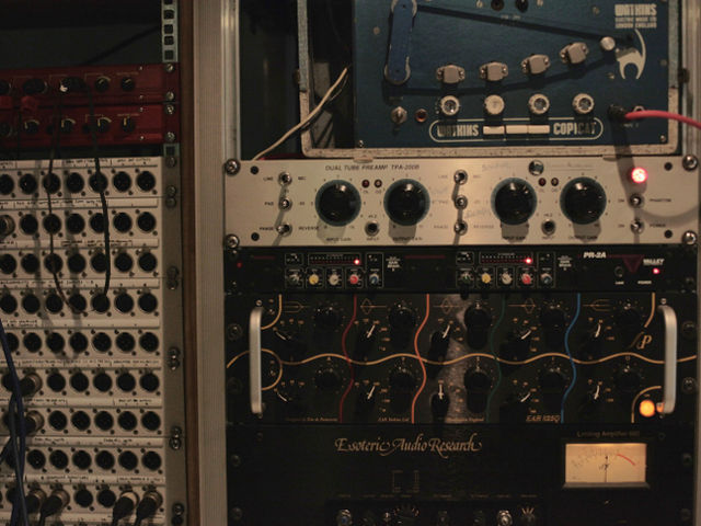 EQ, Limiter and Tape Delay in the rack