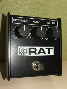 Rat 85 white face distortion pedal reissue