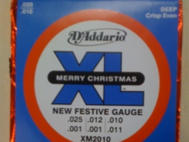 D'Addario's chocolate guitar strings