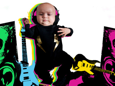 Rock 'n' roll baby clothes
