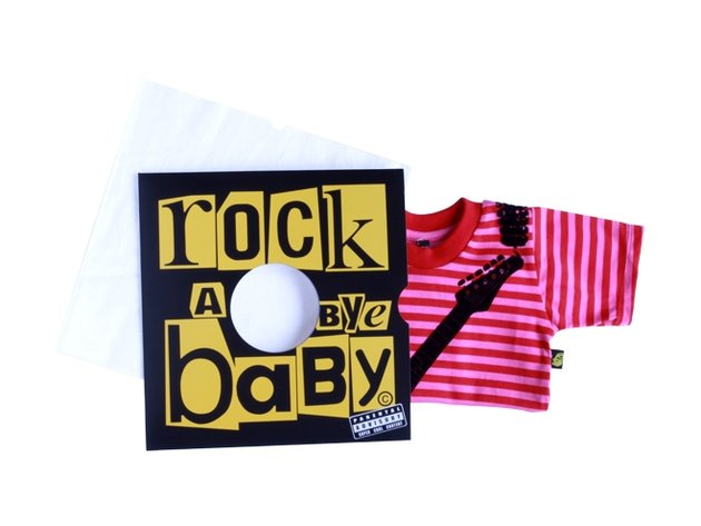 Rock 'n' roll baby clothes line launches