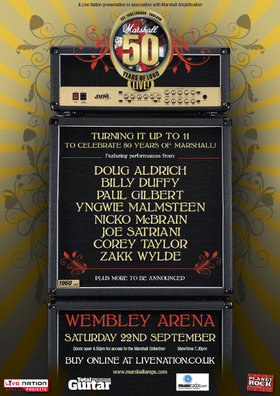 Iron maiden, slipknot and zakk wylde for marshall 50th anniversary gig