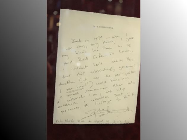 Pete Townsend's explanatory note