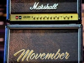 Marshall 'movember' guitar amp