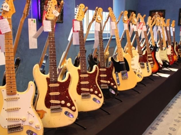 Various Stratocasters and Telecasters