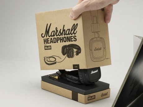 Marshall amps headphones close-up