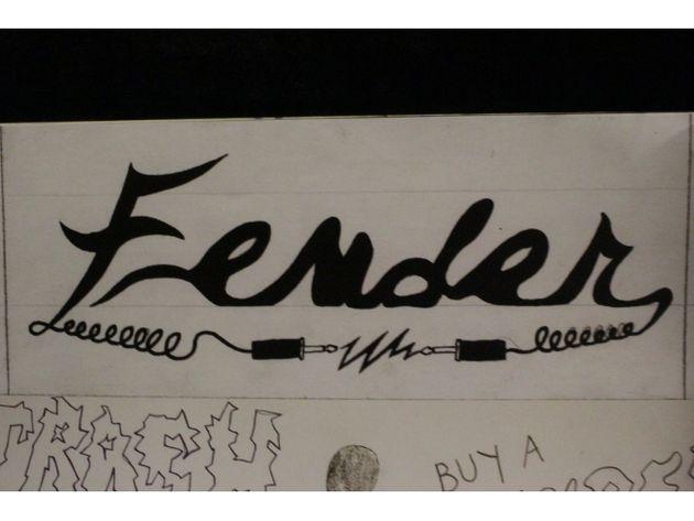 Kurt's Fender logo