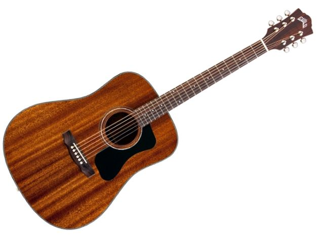 The GAD D-125 dreadnaught (MSRP £526.80) is constructed primarily from mahogany and will have a rosewood fingerboard.
