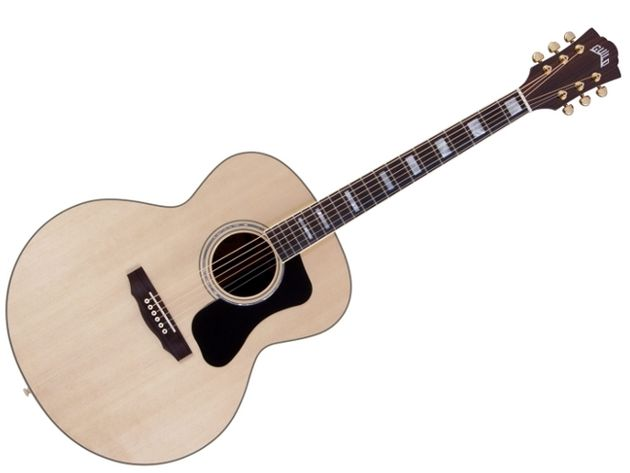 The F-150R (MSRP £1,054.80), a Jumbo body acoustic guitar with rosewood back, sides, fingerboard and neck, which along with the body shape, should make for a pretty loud acoustic.