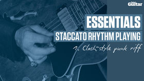 VIDEO: Essentials guitar lesson - Staccato Rhythm Playing (TG235)
