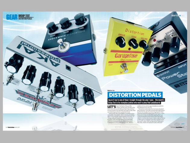 Distortion pedals group test