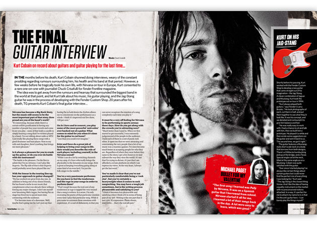 Kurt Cobain's final guitar interview...