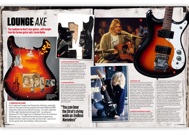 ...Plus a detailed insight into Kurt's guitars and gear