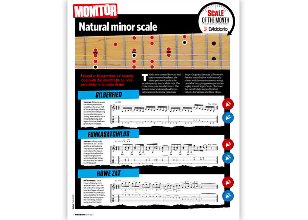 Master the Natural Minor scale with our shred licks!