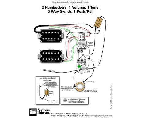 Guitar repairs 101: coil-splitting a humbucking pickup (part two) - seymour duncan diagram