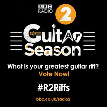 BBC Radio 2 announces  '100 Greatest Guitar Riffs' poll