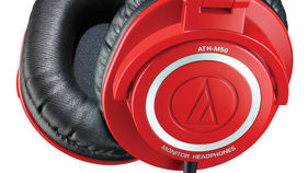 Musikmesse 2013: Audio-Technica Red ATH-M50RD monitor headphones