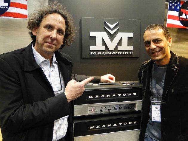 Maganatone President and CEO Ted Kornblum with Magatone master engineer Obeid Khan