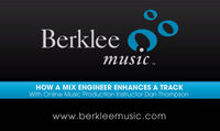 Berklee Online: how a mix engineer enhances a track