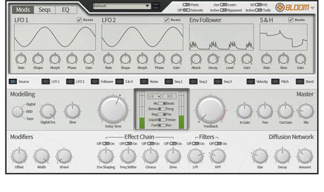 TransMod modulation lets you vary delay time, reverse/freeze modes and virtually any other parameters