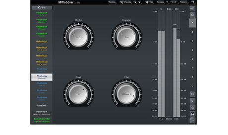 You can also use MWobbler's side-chain input to control the filter by completely different audio material