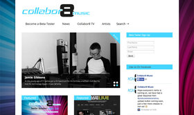 Collabor8 music homepage